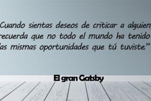 Frases de El gran Gatsby