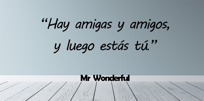 frases mr Wonderful amistad