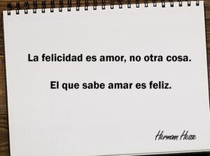 La felicidad es amor