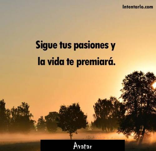 frases de la vida pasión